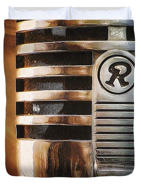Retro Microphone Duvet Cover by Scott Norris