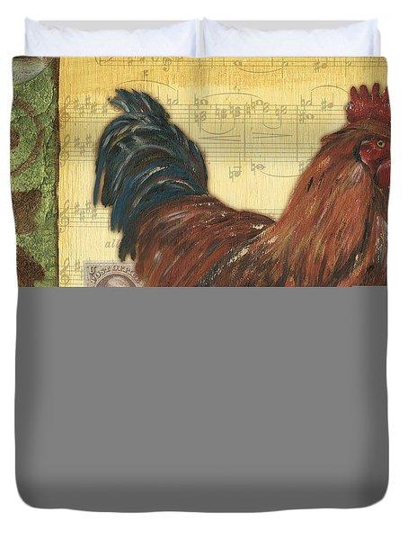 Retro Rooster 2 Duvet Cover by Debbie DeWitt