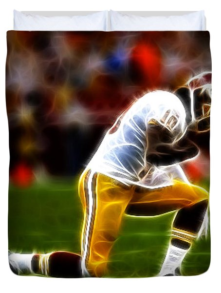 RG3 - Tebowing Duvet Cover by Paul Ward