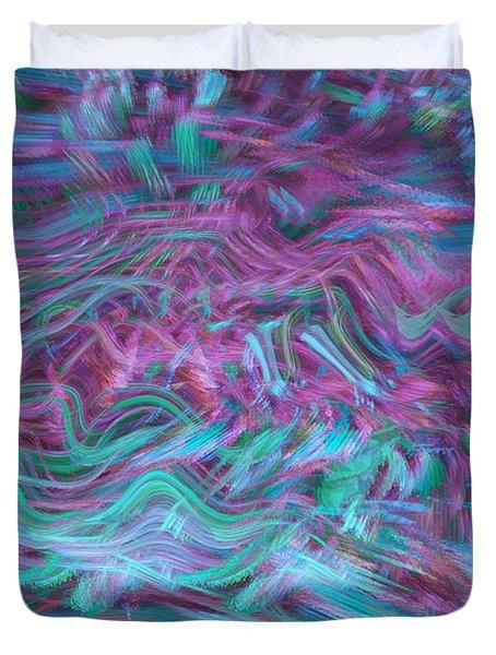 Rhythmic Waves Duvet Cover by Linda Sannuti