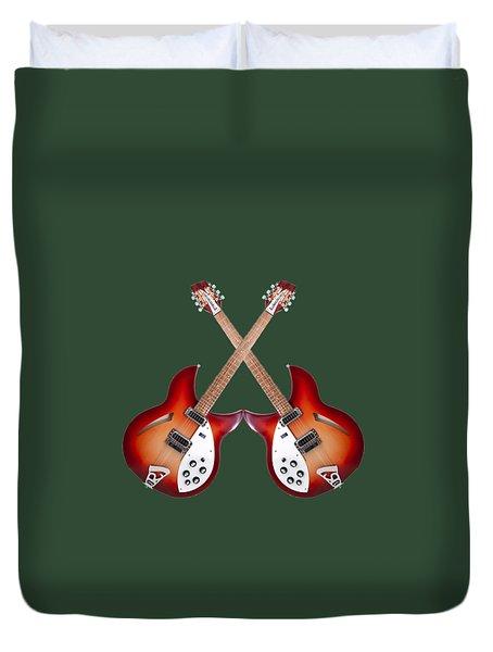 rickenbacker 12-S guitar Duvet Cover by Doron Mafdoos