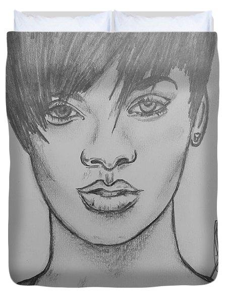 Rihanna 2 Duvet Cover by Collin A Clarke