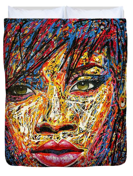 Rihanna Duvet Cover by Angie Wright