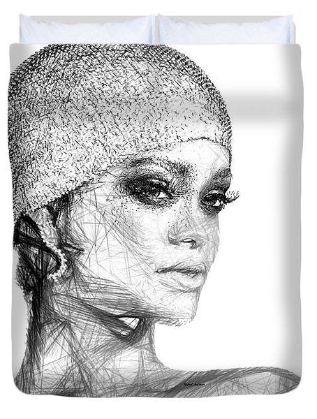 Rihanna Duvet Cover by Rafael Salazar