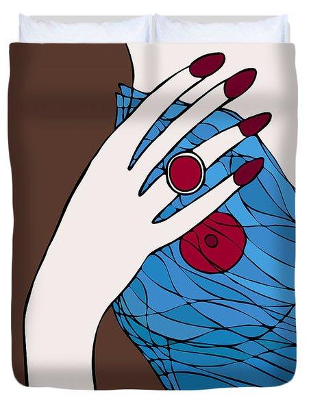 Ring finger Duvet Cover by Frank Tschakert