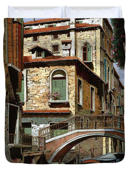 rio degli squeri Duvet Cover by Guido Borelli
