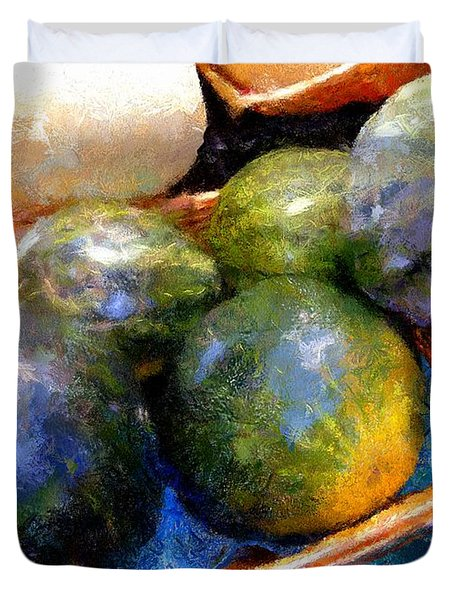 Ripe And Luscious Melons Duvet Cover by RC DeWinter
