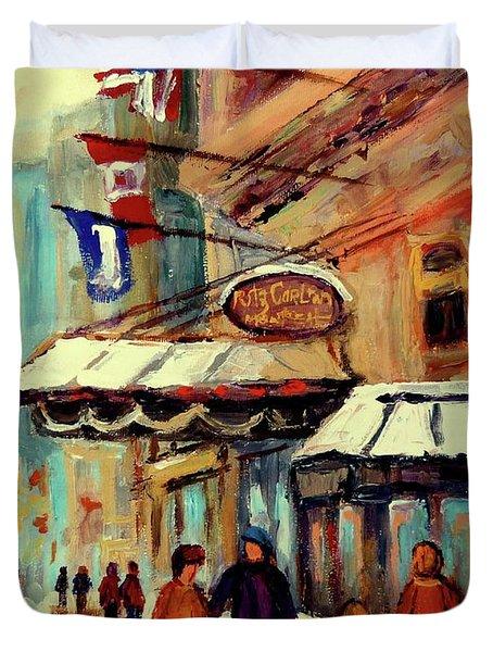 RITZ CARLTON MONTREAL CITYSCENES  Duvet Cover by CAROLE SPANDAU