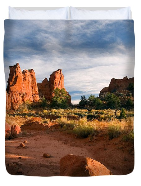River Of Sand Duvet Cover by Mike  Dawson