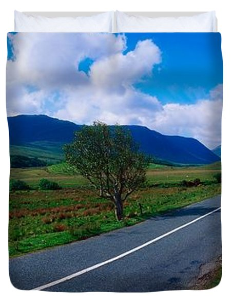 Road From Westport To Leenane, Co Mayo Duvet Cover by The Irish Image Collection