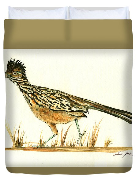 Roadrunner Bird Duvet Cover by Juan Bosco