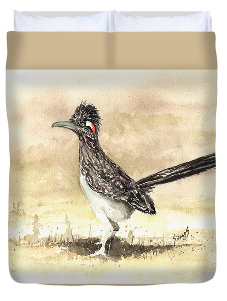 Roadrunner Duvet Cover by Sam Sidders