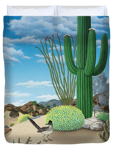 Roadrunner Duvet Cover by Snake Jagger