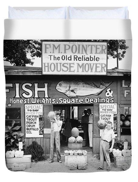 Roadside Stand Near Birmingham, Alabama Duvet Cover by Walker Evans