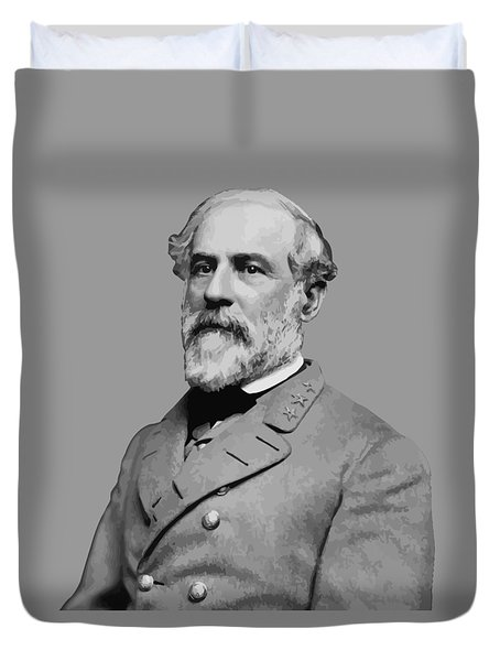 Robert E Lee Confederate Hero Duvet Cover by War Is Hell Store