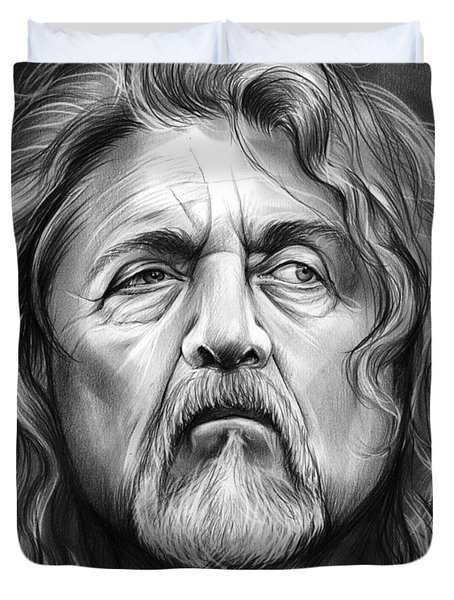 Robert Plant Duvet Cover by Greg Joens