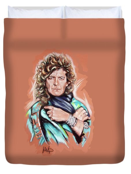 Robert Plant Duvet Cover by Melanie D