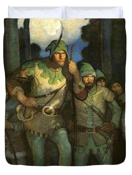 Robin Hood And His Merry Men Duvet Cover by Newell Convers Wyeth