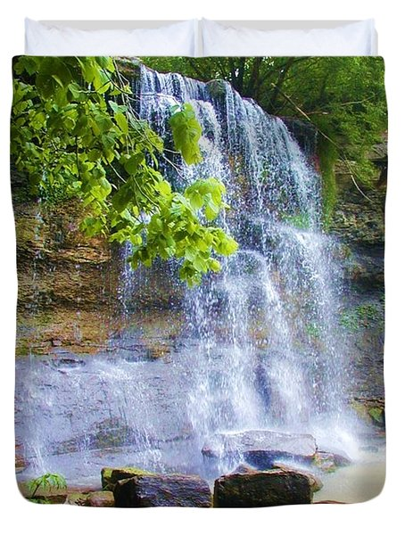 Duvet Cover featuring the photograph Rock Glen by Rodney Campbell