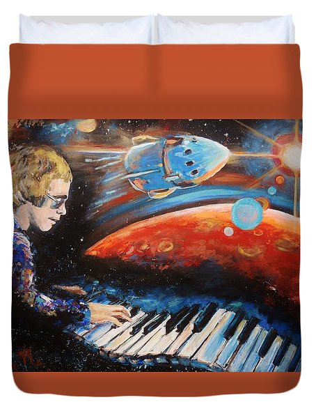 Rocket Man Duvet Cover by Shannon Lee