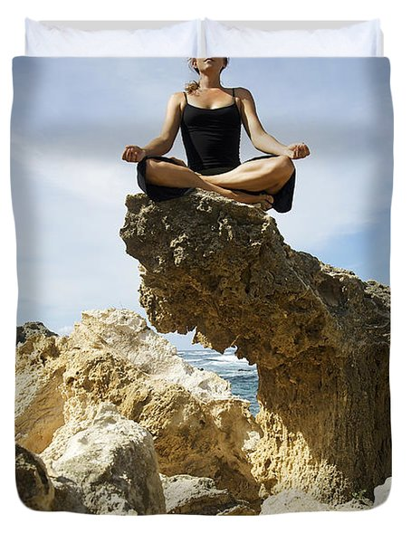 Rocky Yoga Duvet Cover by Kicka Witte - Printscapes