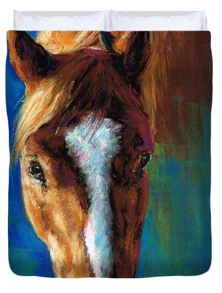 Rojo Duvet Cover by Frances Marino