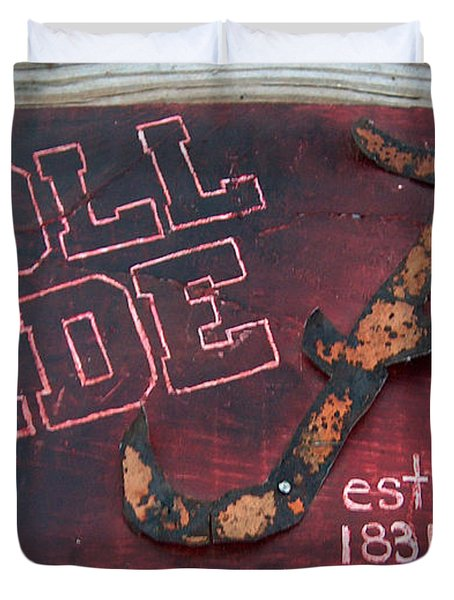 Roll Tide Alabama Duvet Cover by Racquel Morgan