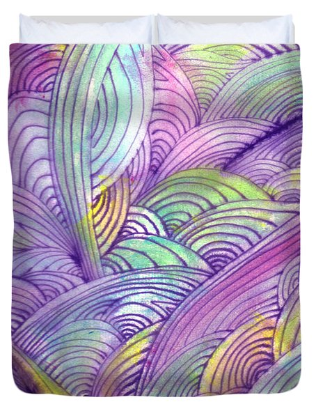 Rolling Patterns In Pastel Duvet Cover by Wayne Potrafka