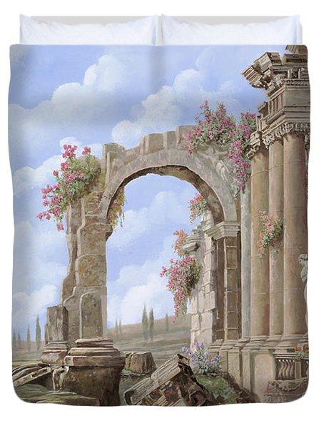 Roman ruins Duvet Cover by Guido Borelli