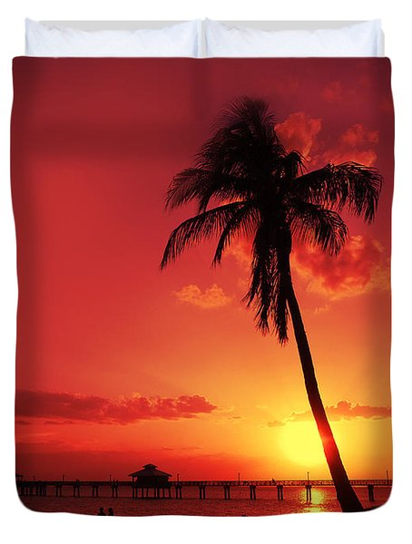 Romantic Sunset Duvet Cover by Melanie Viola