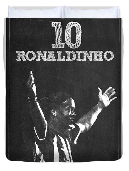 Ronaldinho Duvet Cover by Semih Yurdabak