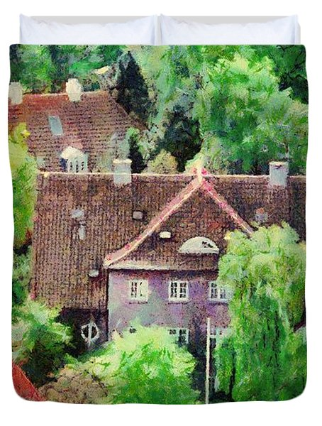 Rooftops Duvet Cover by Jeff Kolker