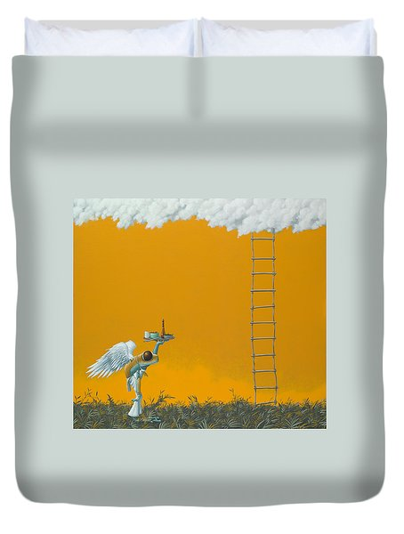 Rope Ladder Duvet Cover by Jasper Oostland