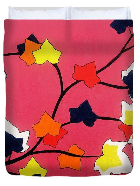 Rose Coloured Glow Duvet Cover by Oliver Johnston