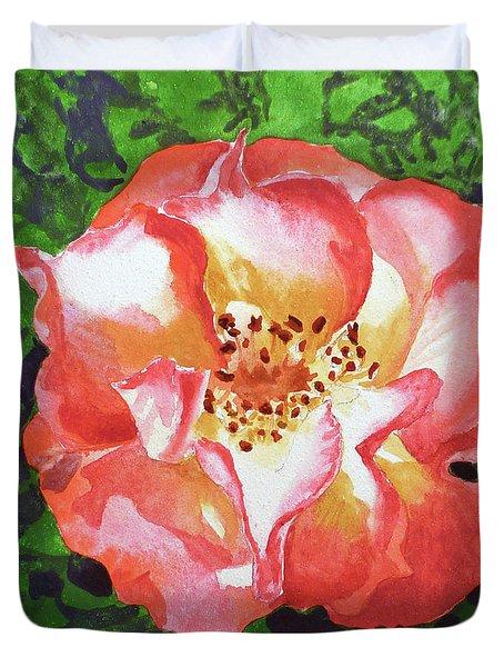 Rose  Duvet Cover by Irina Sztukowski
