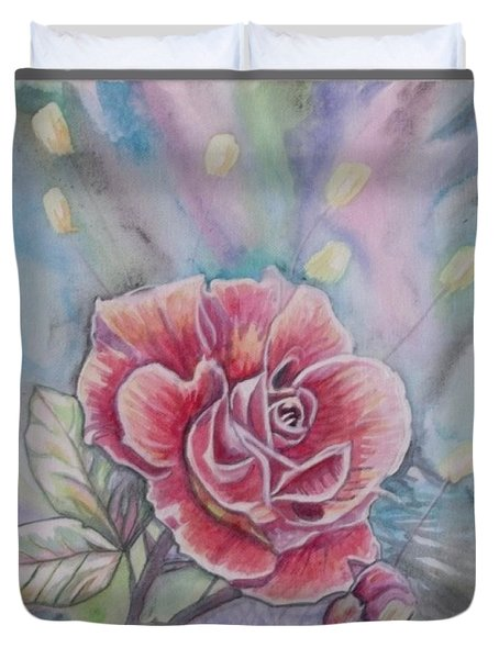 Rose Duvet Cover by Laura Laughren