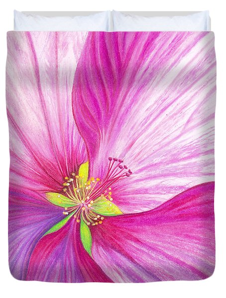 Rose Mallow Duvet Cover by Amy Tyler