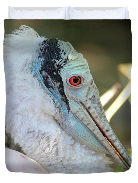 Roseate Spoonbill Profile Duvet Cover by Carol Groenen