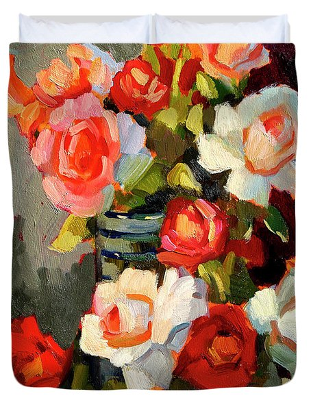 Roses From My Garden Duvet Cover by Diane McClary