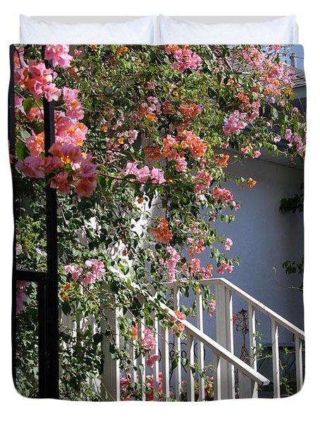 Roses In Winter Duvet Cover by Susanne Van Hulst