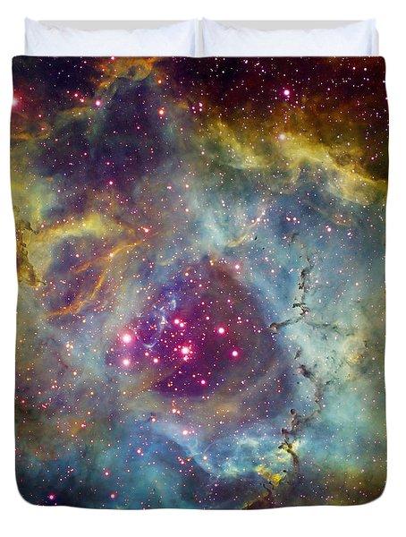 Rosette Nebula Ngc 2244 In Monoceros Duvet Cover by Filipe Alves