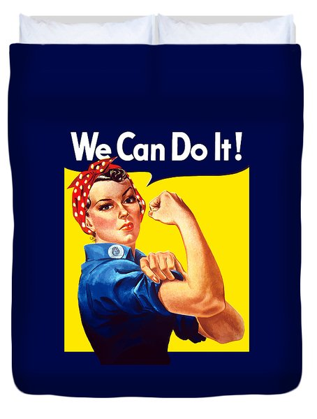 Rosie The Rivetor Duvet Cover by War Is Hell Store