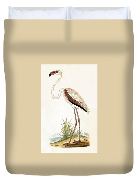 Rosy Flamingo Duvet Cover by English School