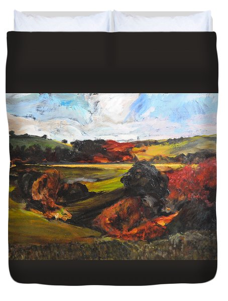 Rough Sketch By Rhug Duvet Cover by Harry Robertson