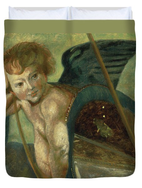 Ruben's Angel Duvet Cover by Shelley Irish