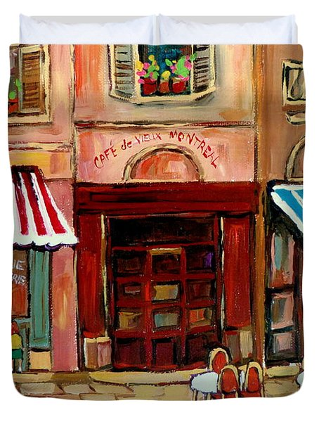 Rue St Paul Montreal Duvet Cover by Carole Spandau