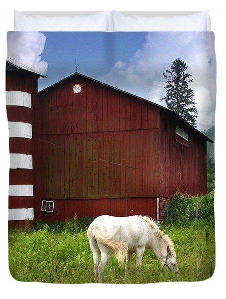 Rural America Duvet Cover by Lori Deiter