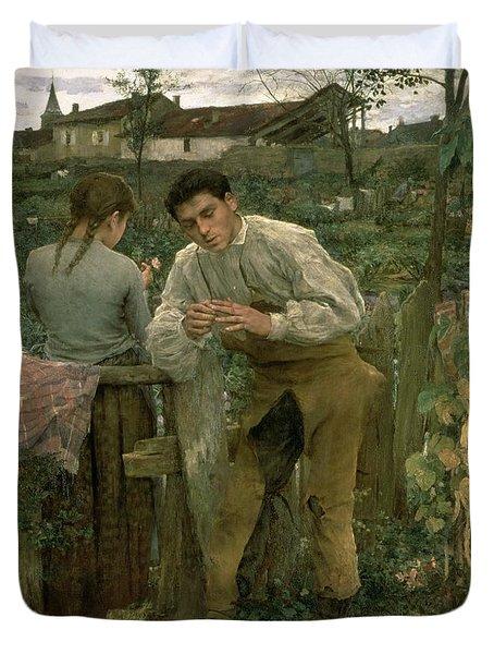 Rural Love Duvet Cover by Jules Bastien Lepage