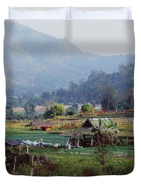 Rural Scene Near Chiang Mai, Thailand Duvet Cover by Bilderbuch