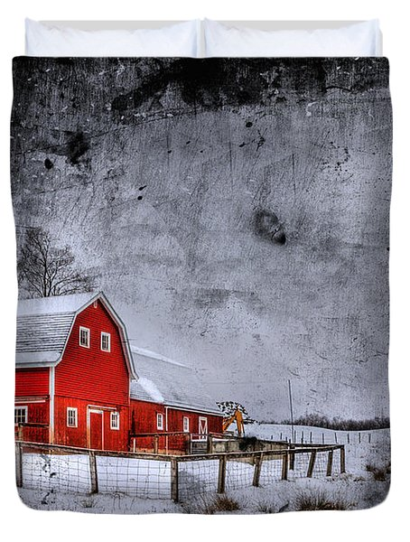Rural Textures Duvet Cover by Evelina Kremsdorf